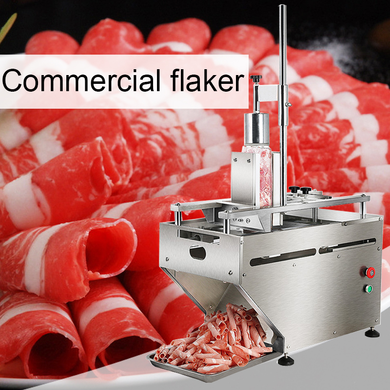 220V400W Commercial Desktop Slicer Electric Multi-function Cut Lamb Meat Beef Machine Automatic Meat Machine