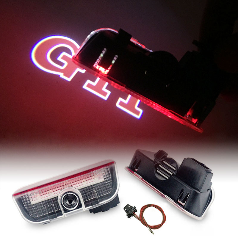 Car LED Door Logo Projector Ghost Shadow Light FOR <font><b>VW</b></font> <font><b>Golf</b></font> <font><b>5</b></font> 6 7 Jetta MK5 MK6 CC Tiguan Passat B6 B7 Scirocco <font><b>GTI</b></font> Touareg EOS image