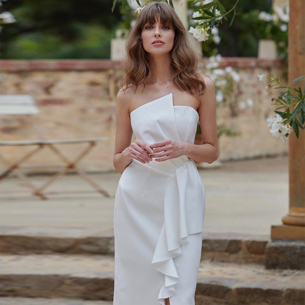 Ocstrade Summer New Arrival White <font><b>Bodycon</b></font> <font><b>Dress</b></font> 2020 <font><b>Women</b></font> Strapless <font><b>Sexy</b></font> <font><b>Bodycon</b></font> <font><b>Dress</b></font> Club Celebrity Evening Party <font><b>Dress</b></font> image
