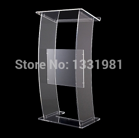 Free Shipping Hot Sell Clear Acrylic Lectern;Clear Church Pulpit;Modern Plexiglass Pulpit Plexiglass