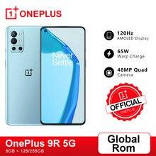 Globalny Rom OnePlus 9R 5G Smartphone 9 R Snapdragon 870 8GB 128GB 6.55 ''120Hz ekran AMOLED 65W Warp OnePlus oficjalny sklep