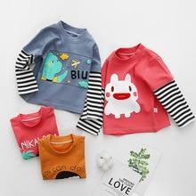Girls Cotton t-Shirt Baby-Top Long-Sleeved Children's Spring Autumn