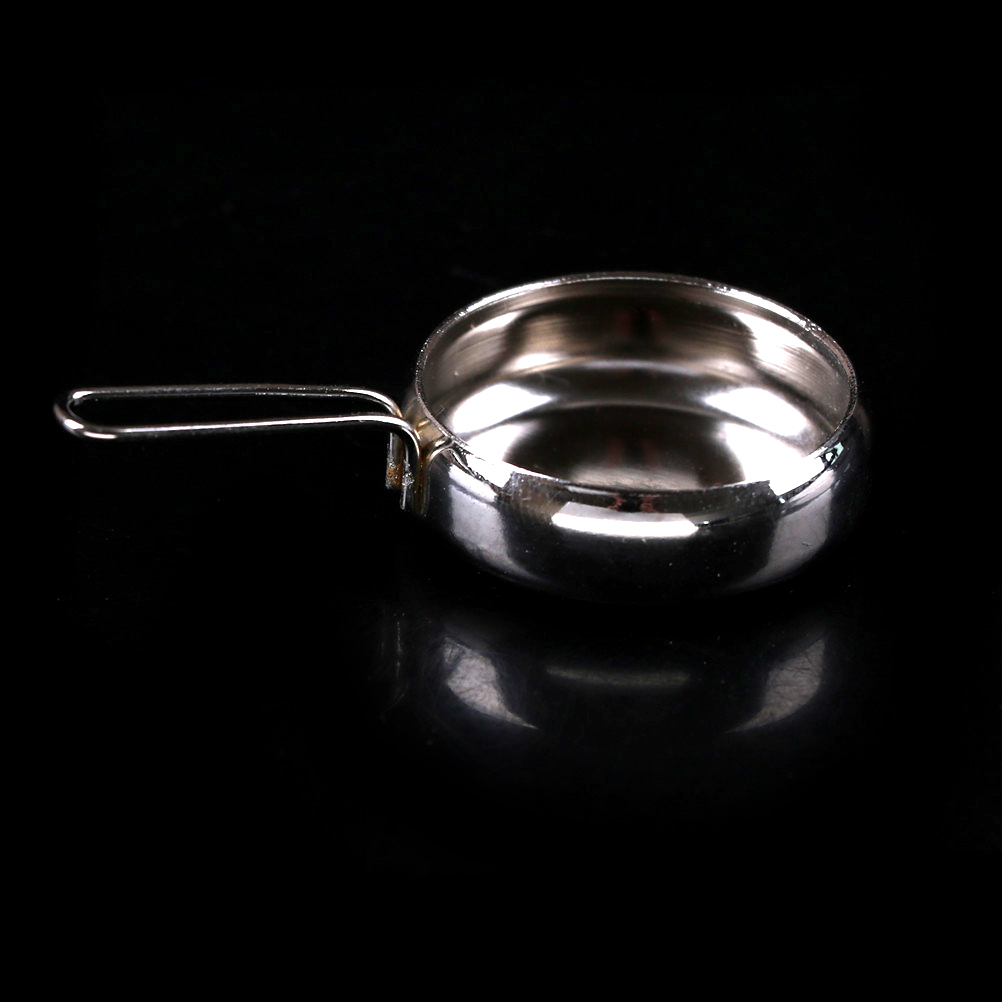 1:12 Silver Frying Pan Furniture Toys Dollhouse Miniature Kitchen Cooking Tool 1/12 Dollhouse Deor Birthday Gift For Girl Kids