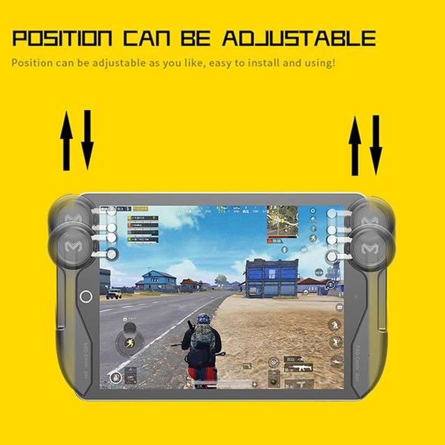 Contrôleur de jeu Mobile PUBG pour tablette Ipad Six doigts jeu Joystick poignée bouton de visée L1R1 tireur manette déclencheur