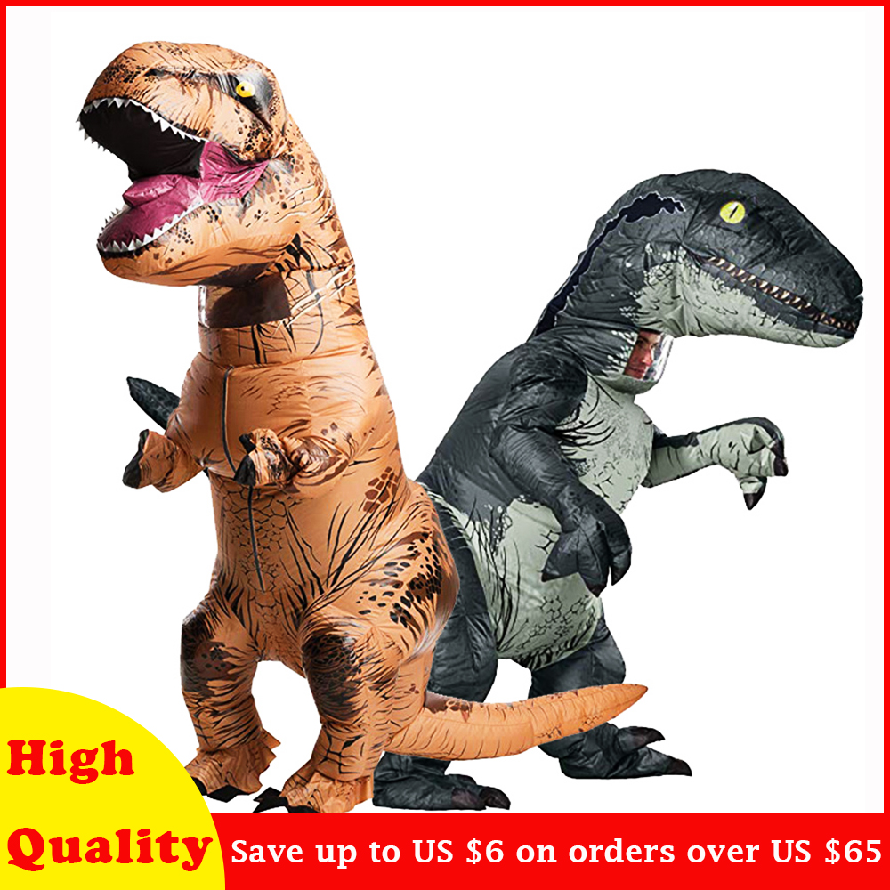 Adult Kids Dinosaur T REX Inflatable Costume Anime Party Cosplay Costume Halloween Costumes For Men Women Fancy Dress Suit