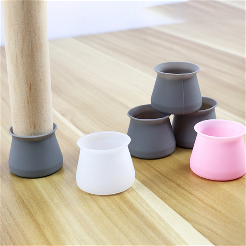 Non-slip Wear-resistant Table Chair Foot Cover Home Stool Leg Caps Furniture Sofa Leveling Feet Floor Protector Universal 10PCs