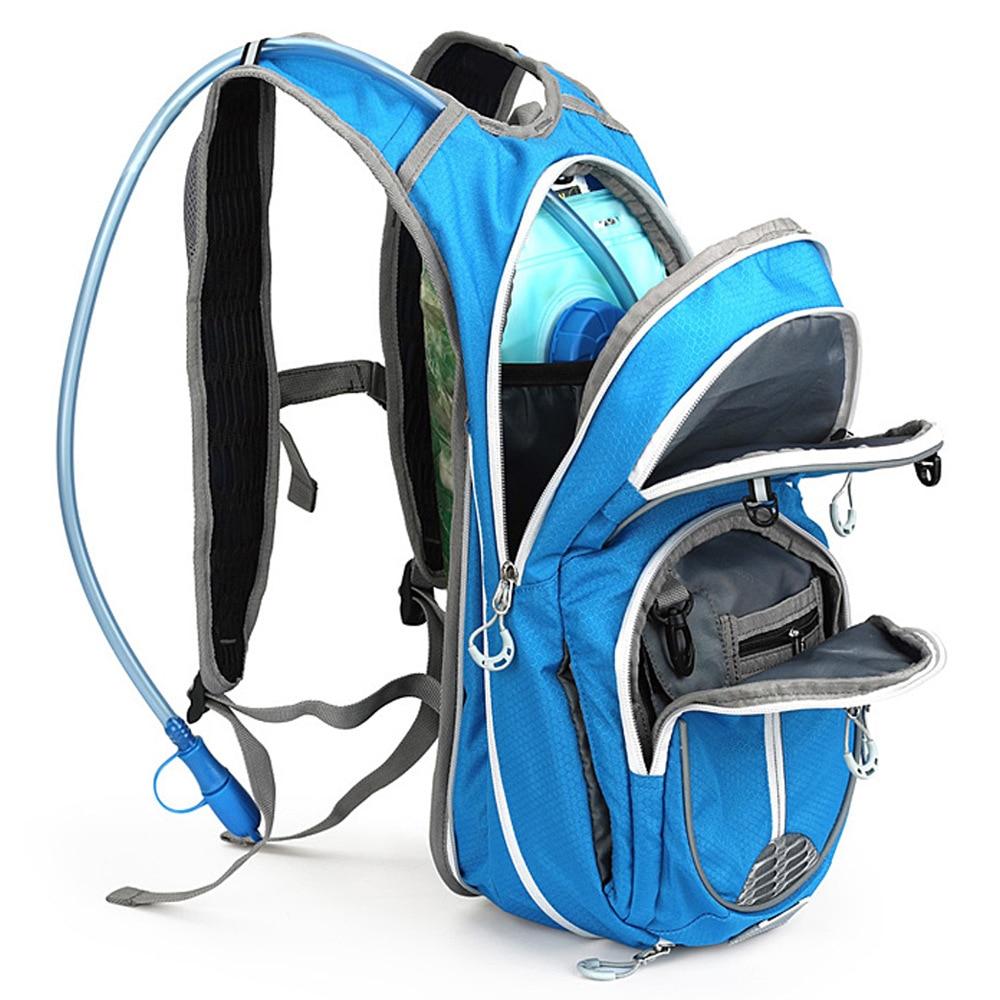 Открытый спортивный Кемпинг бег 12л воды мешок гидратации рюкзак для пеших прогулок езда мешок воды пакет мягкая колба