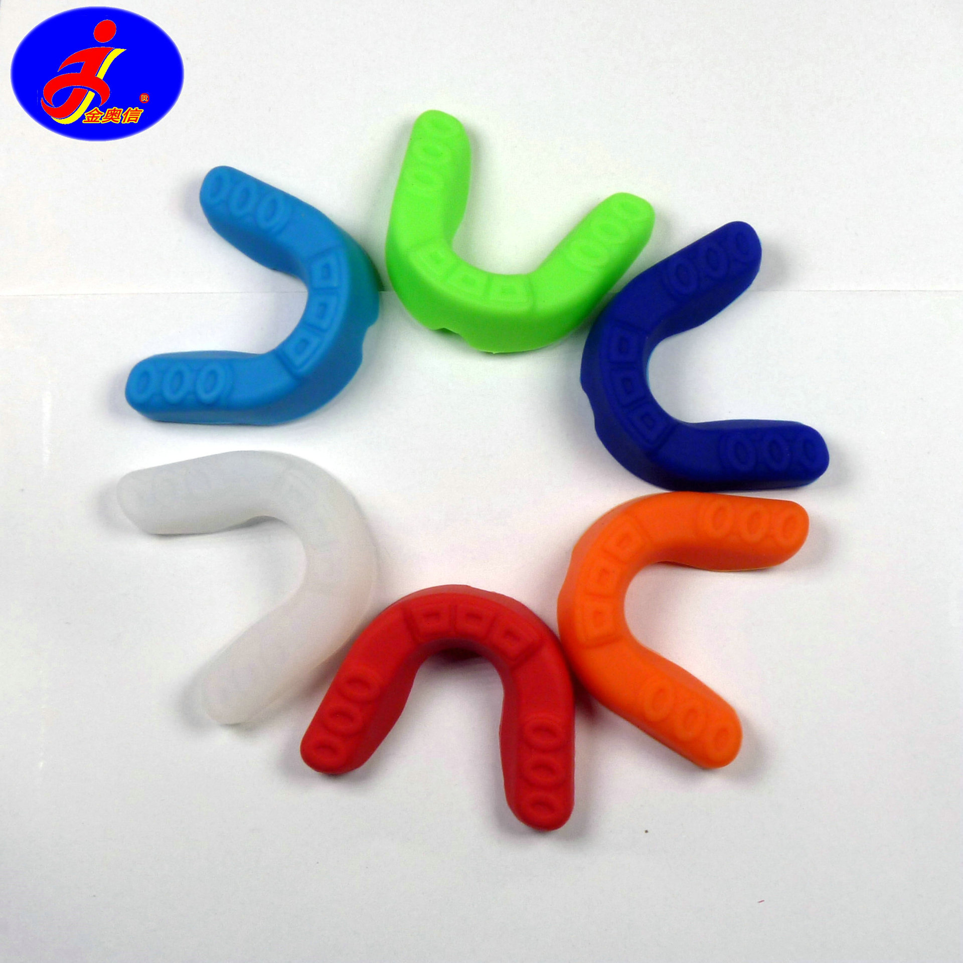 Jinao Xin Silica Gel Sports Mouthguard Hu Ya Tao Hole-Shape-Boxing Sanda Taekwondo Basketball Football