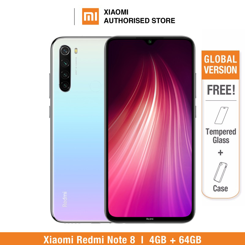 smartphone Global Version Redmi Note 8 64GB ROM 4GB RAM (Brand New and Sealed), note8 64gb Smartphone Mobile