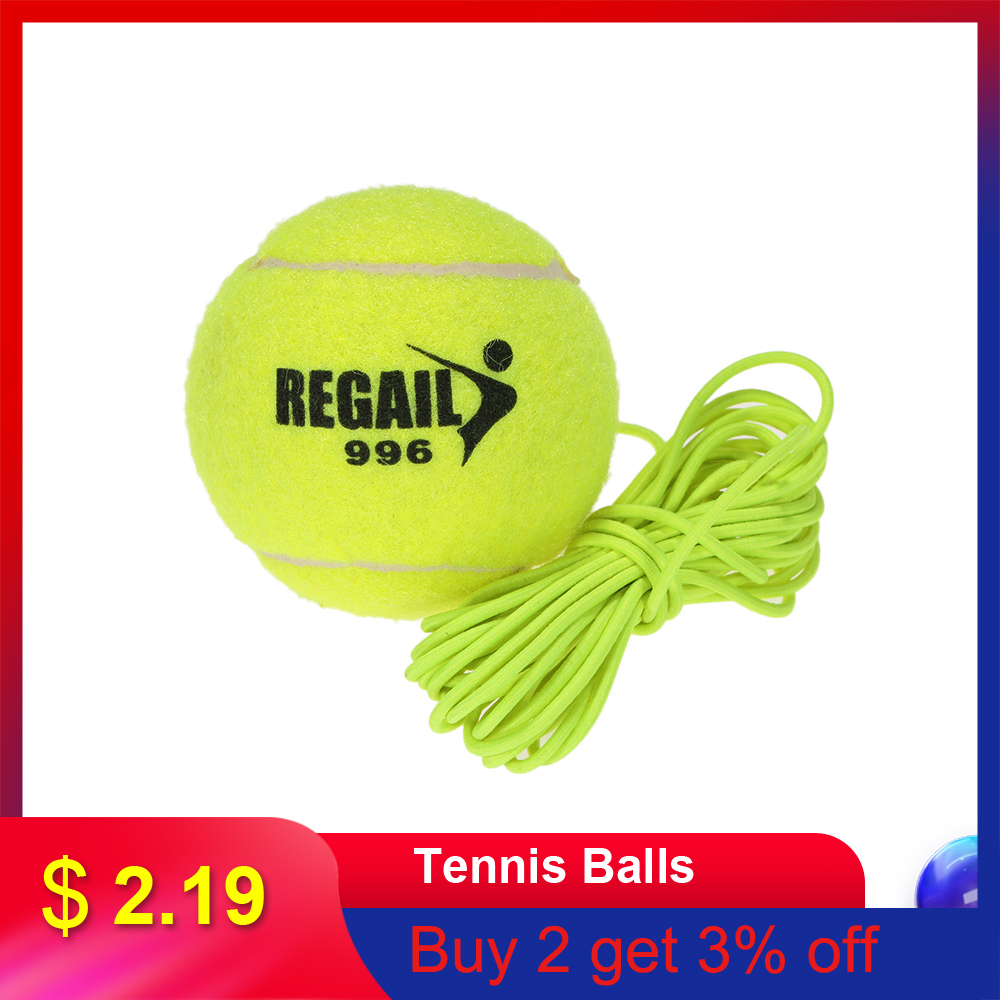 Durable Tennis Balls Tennis Trainer With String Sparring Device Trainers Tennis Ball Sports Tournament Outdoor Fun Cricket Beach
