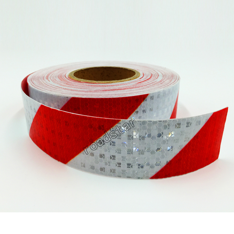 5CMX5M Twill Shiny Reflective Warning Tape Traffic  Construction Site Reflective Sign Sticker