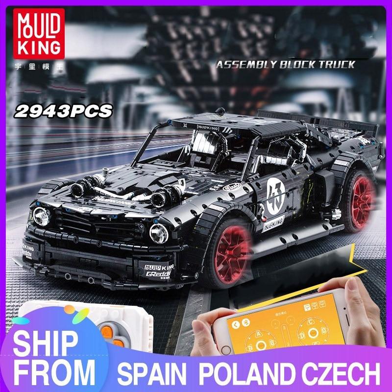 MOULD KING MOC – blocs de construction de modèle de voiture de course RTR V2, jouets de bricolage pour enfants, cadeaux d'anniversaire