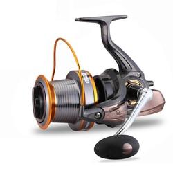 LJ3000-9000 4.1: 1/5. 1:1 Mare Profondo Full Metal Mulinelli 12 + 1BB Sinistra/Destra Maniglia Manopola Forte Potere Bass Pike Bobina di Pesca