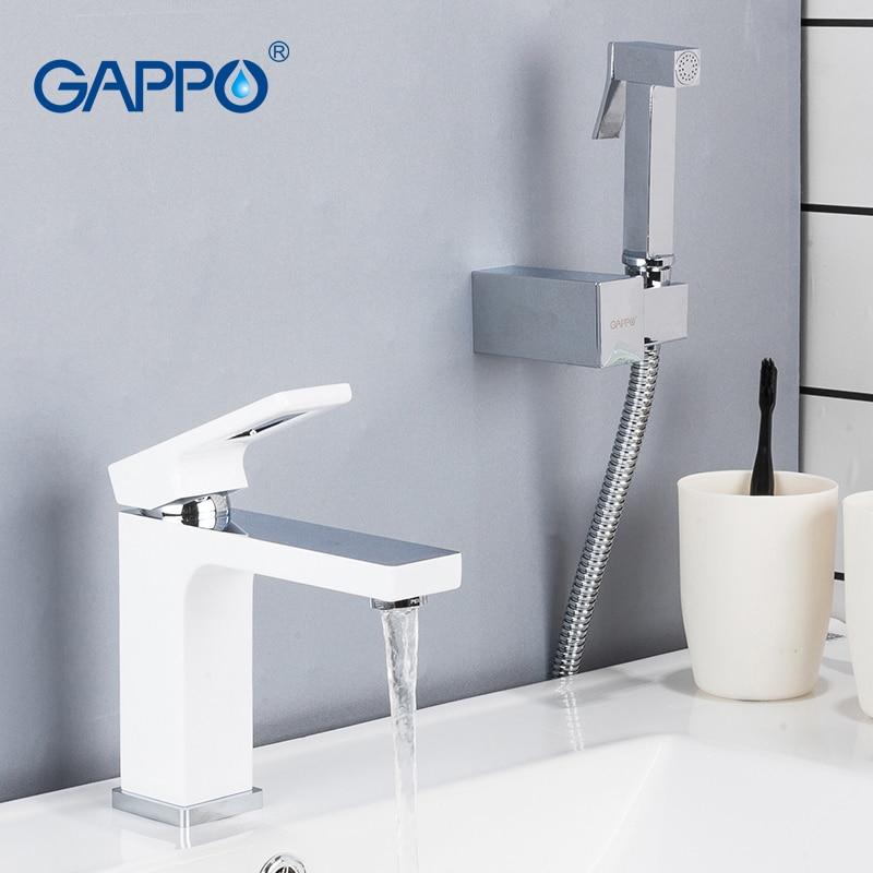 GAPPO basin faucets water mixer brass bathroom sink faucet white chrome faucet water taps basin mixer tap deck mount torneira