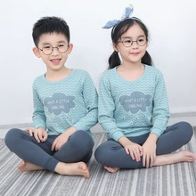 Boys Girls Sleepwear Winter Cotton Pajamas Sets Children Hom