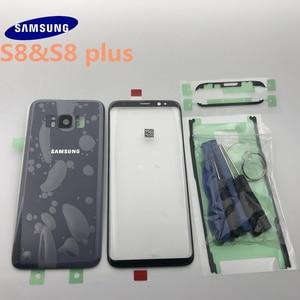 Image 3 - סמסונג גלקסי S8 G950 G950F S8 + בתוספת G955 G955F חזרה זכוכית כיסוי אחורי סוללה כיסוי דלת עם מצלמה עדשה + קדמי זכוכית עדשה