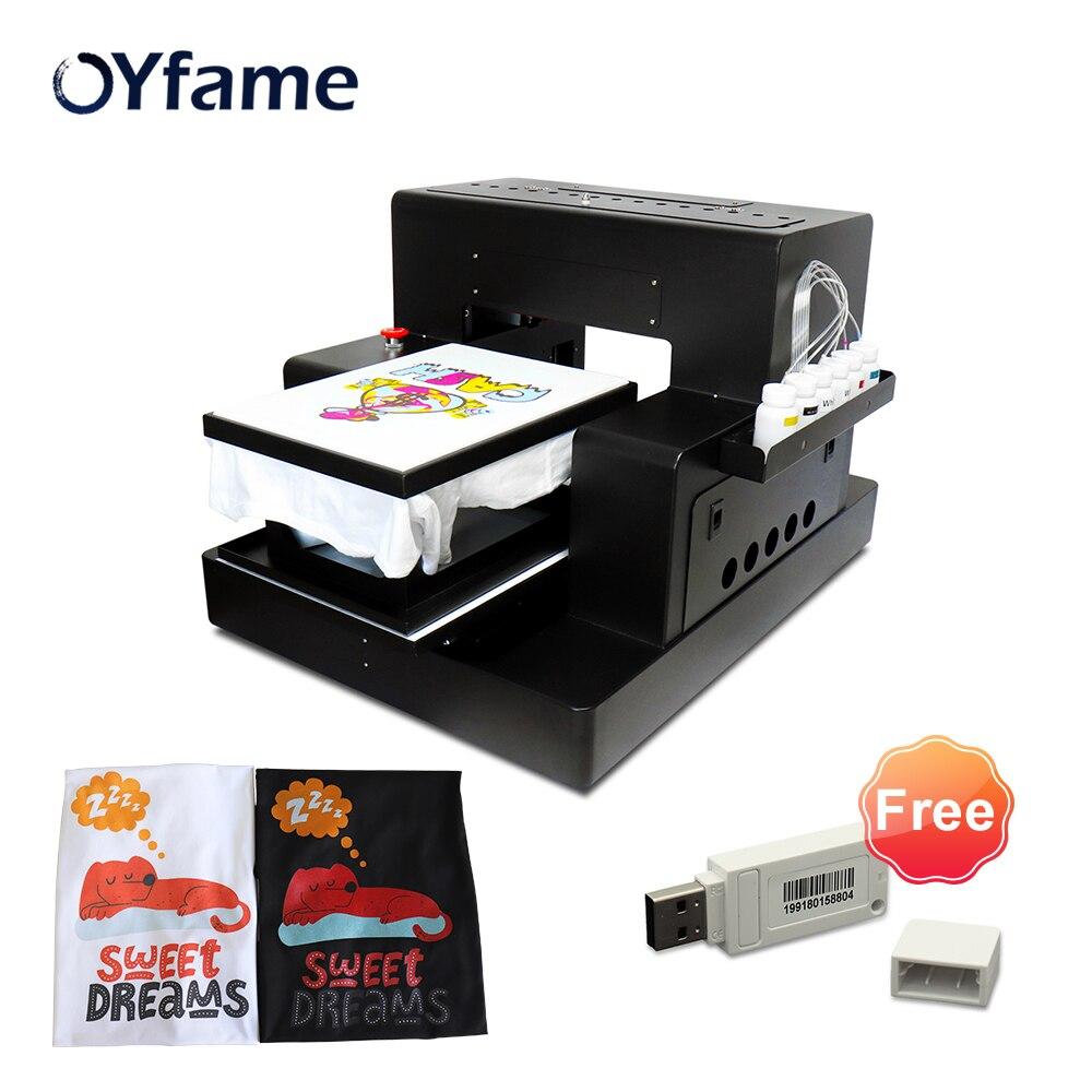 OYfame Multicolor A3 Flatbed Printer DTG Printer For tshirt For Dark Light TShirt Clothes dtg printer A3 tshirt Printing Machine|printer for t shirt|printer for shirtscolor printer - AliExpress