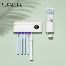 Умный держатель для зубных щеток с УФ светильник автоматический