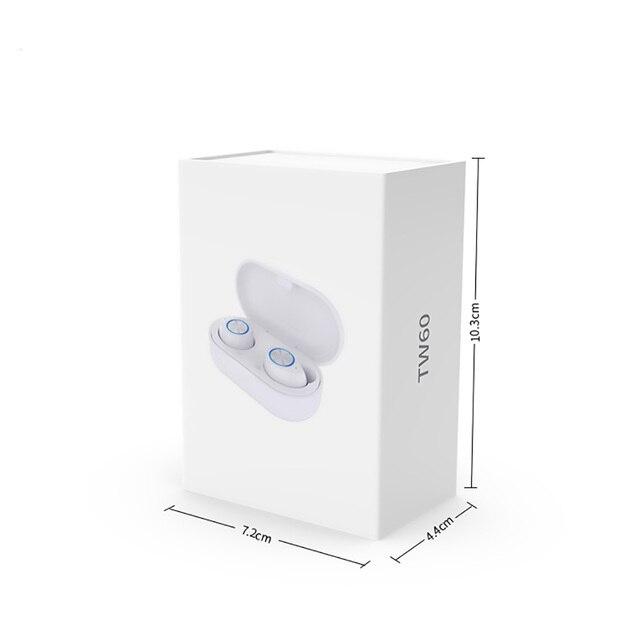 Tw60 tws bluetooth 5.0 fones de ouvido sem fio 3d estéreo alta fidelidade esportes à prova dwireless água sem fio fone com microfone 5