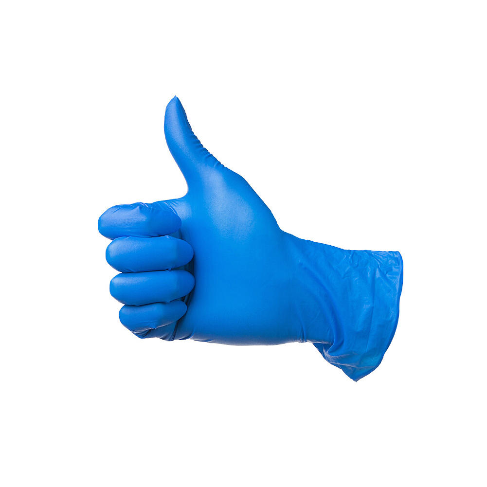 Disposable Nitrile Gloves Examination Gloves Ultra Strong for Clear Fluid Blood Exam Healthcare Food Handling Use S Blue 50Pair
