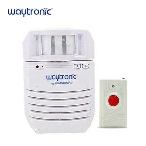 Image 5 - Sensor de movimiento por infrarrojos PIR inalámbrico, Detector automático de inducción, timbre de bienvenida, avisador de voz