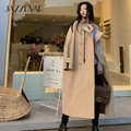 JAZZEVAR 2021 new Spring Autumn women's fashion street oversized X-long outerwear female loose clothing casual khaki trench coat