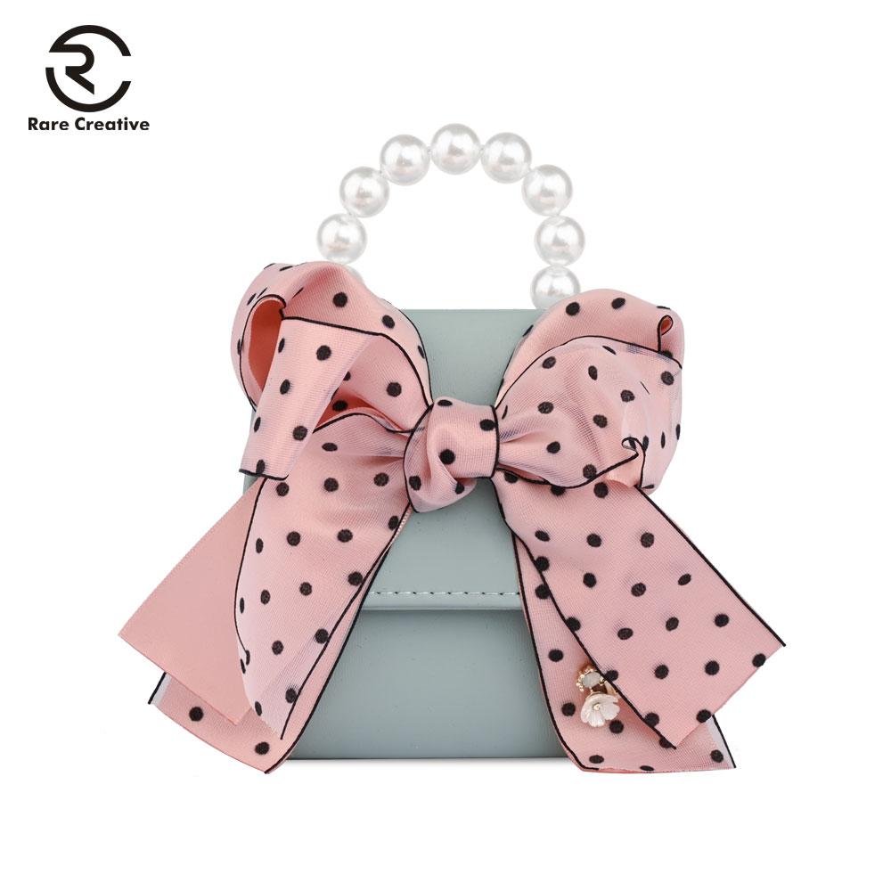 RARE CREATIVE Scarves Ribbons Women's Bag Bow Flowers Luxury Handbags Women Bags Designer Mini Leather Famous Brand Bags PS8002