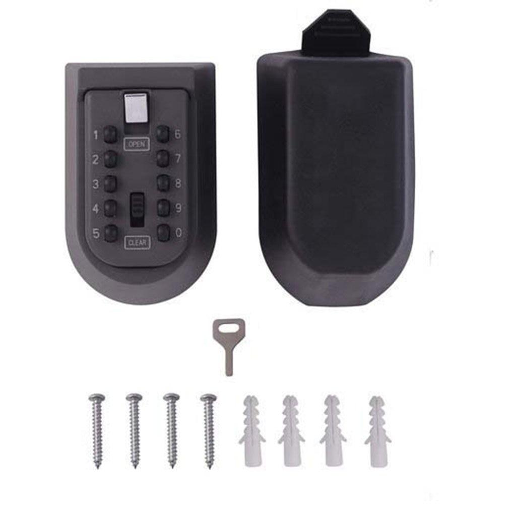 Outdoor Wall Mount Spare Key Safe Box Lock Holder Water Weatherproof
