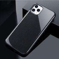 Stoßfest Carbon Fibre Telefon Fall Für iPhone 12 11 11Pro Max XR XS Max X 7 8 Plus Volle 11Pro schutz Anti-Klopfen Zurück Abdeckung