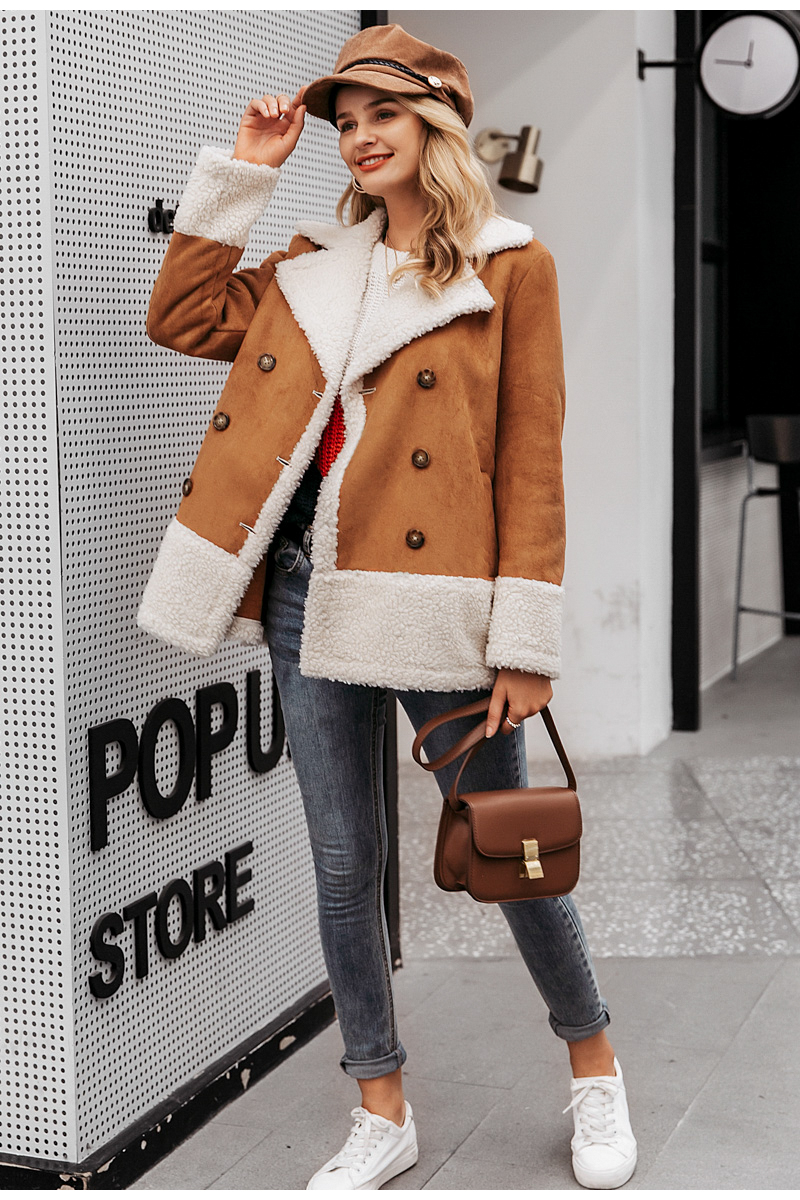 Vintage Suede Warm Outerwear Coat Jacket