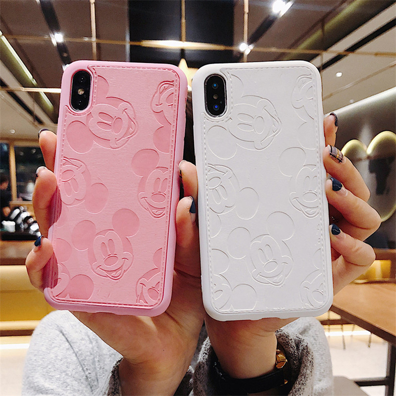 minnie <font><b>mouse</b></font> ears Hot cute leather phone <font><b>case</b></font> for iphone11 pro max x xr xs max funda for iphone8 6 6s 7plus high quality coque image