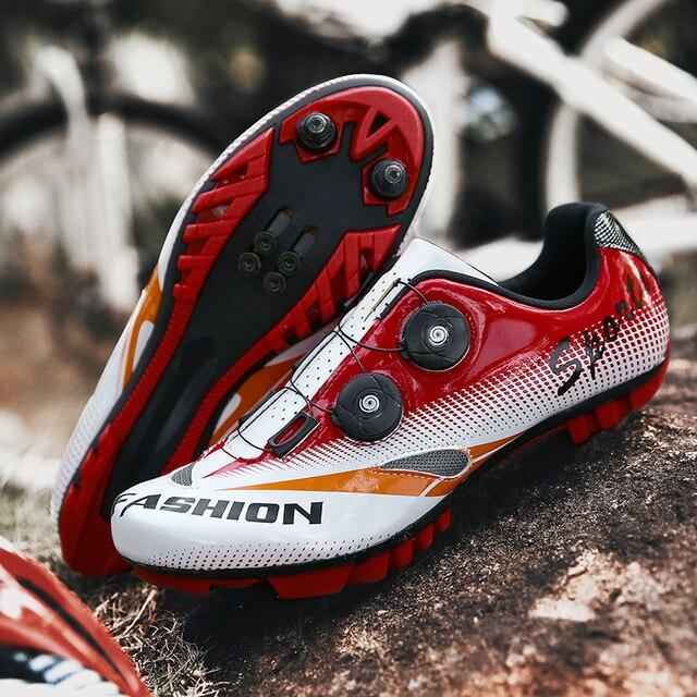Homem sapatos de ciclismo ao ar livre esporte profissional triathlon corrida estrada mountain bike tênis ciclismo mtb hombre apartamentos 1