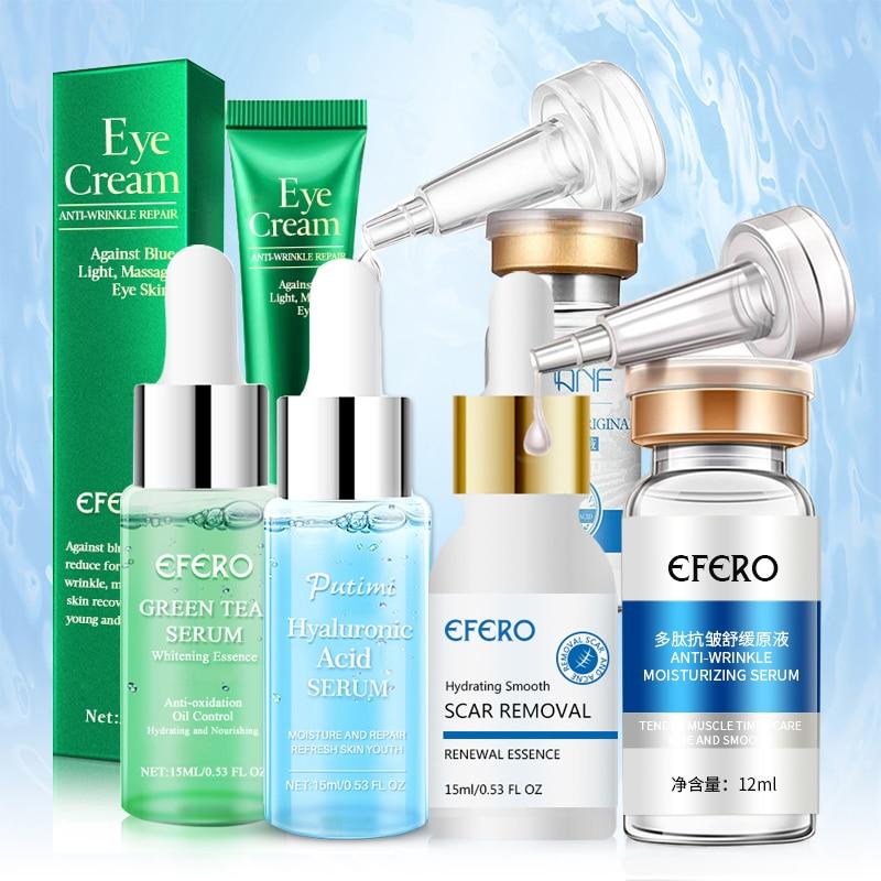 Hyaluronic Serum Six Peptides Anti Aging Moisturizing Serum Acne Scar Removal Essence Face Cream Whitening Collagen Eye Cream