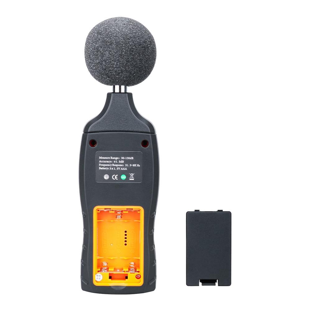 SNDWAY Medidor digital de nivel de sonido Decibelio Monitoreo - Instrumentos de medición - foto 5
