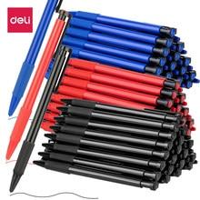Deli caneta esferográfica multifunção, caneta esferográfica preta/azul/vermelha com 1 peça 0.7mm caneta esferográfica de imprensa, artigos de papelaria da escola