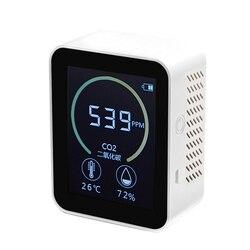 Detector de qualidade do ar do agregado familiar multifuncional c02 temperatura umidade tester qualidade do ar monitor detector gás com luz fundo