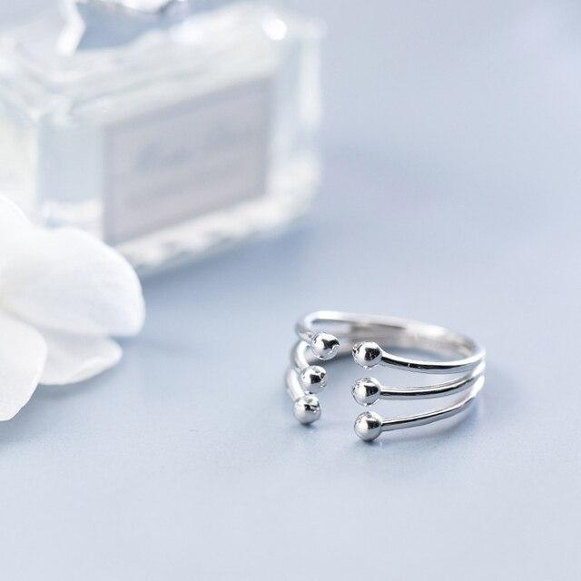 Купить модное глянцевое многослойное кольцо ginin из серебра 925 пробы картинки