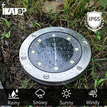 New 8 LED Solar Outdoor Light Waterproof IP65 Outdoor Landscape Lawn Garden Decoration Underground Sensing For Pathway Street
