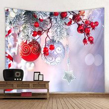 Christmas holiday background series tapestries, polyester digital printed household decorative tapestries