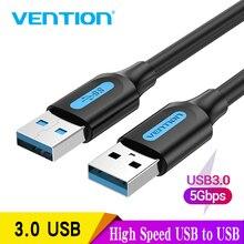 Vention-Cable de extensión USB macho a macho 2,0 3,0, extensor de Cable USB de transferencia de datos de alta velocidad para radiador, altavoz de coche, HD, Webcom