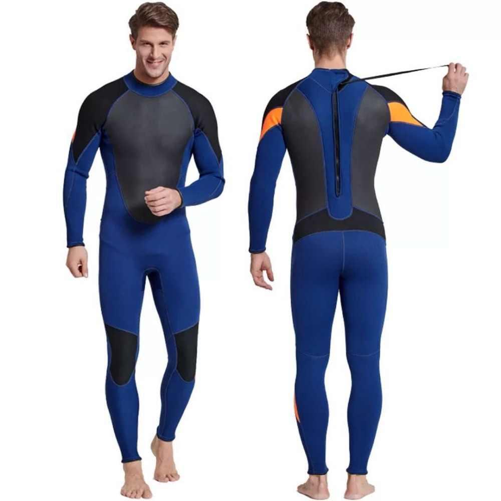 Sbart Heren Neopreen Wetsuit Mergulho 3mm Patchwork Surf Onderwatervissers Badpak Duiken Pak Duikuitrusting