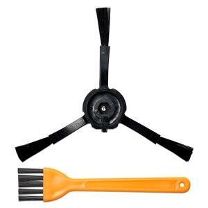 Image 3 - 10 pz/set Spazzola Principale Filtri Spazzole Laterali Giallo Peloso Spazzola per Xiaomi/Roborock S50 S51 S55 S5 S6 T60 t61 Robot Aspirapolvere
