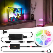 Ambilight TV LED Strip Backlight Digital Tape Kit USB Adapter Powered RGB Full Color Changeable PC TV Background Lighting 1M~ 5M(China)