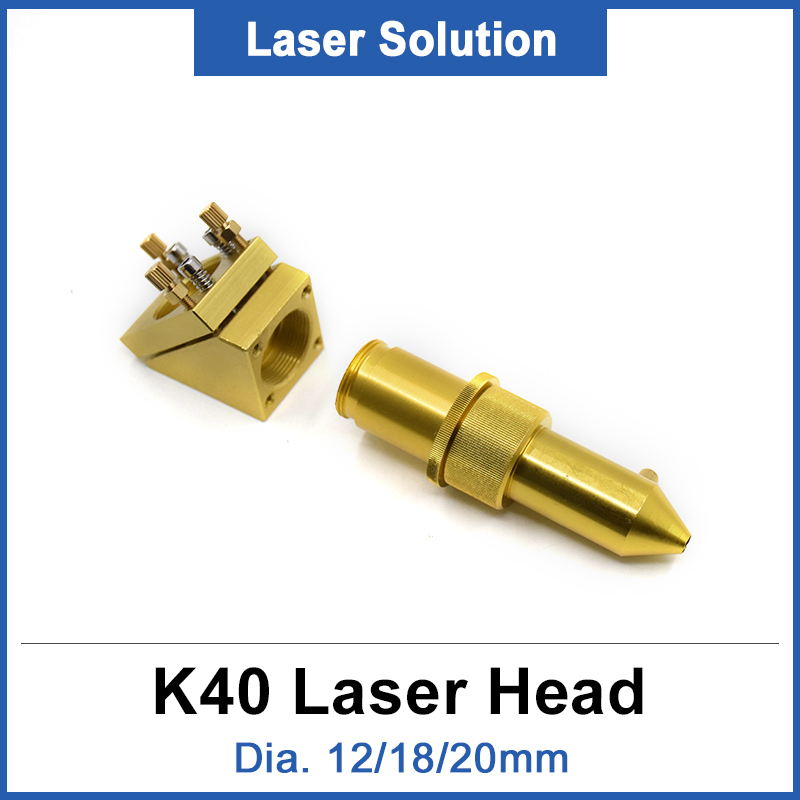 CO2 Laser Head 12/18/20mm For 2030 4060 K40 Laser Engraving Cutting Machine