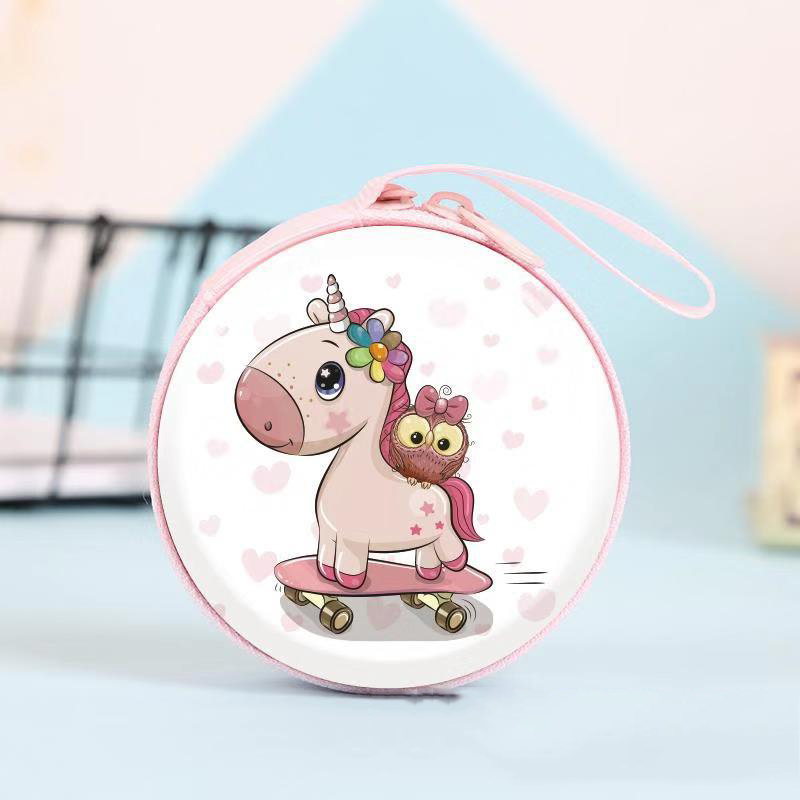 Stuffed Animals Plush Toys Purses Cute Unicorn Mini Bag Cartoon Coin Purse kids Girls Wallet Earphone Box Bags Christmas Gift