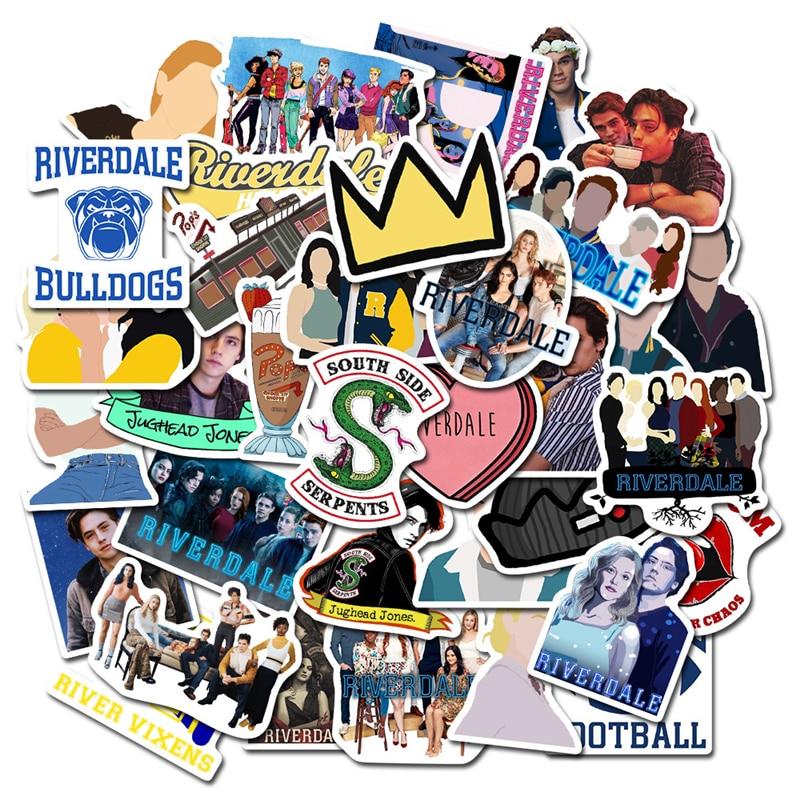 50 stücke Riverdale tv zeigen fans geschenk dekoration Aufkleber DIY scrapbooking album Gepäck Laptop Telefon Auto aufkleber wasserdicht Aufkleber