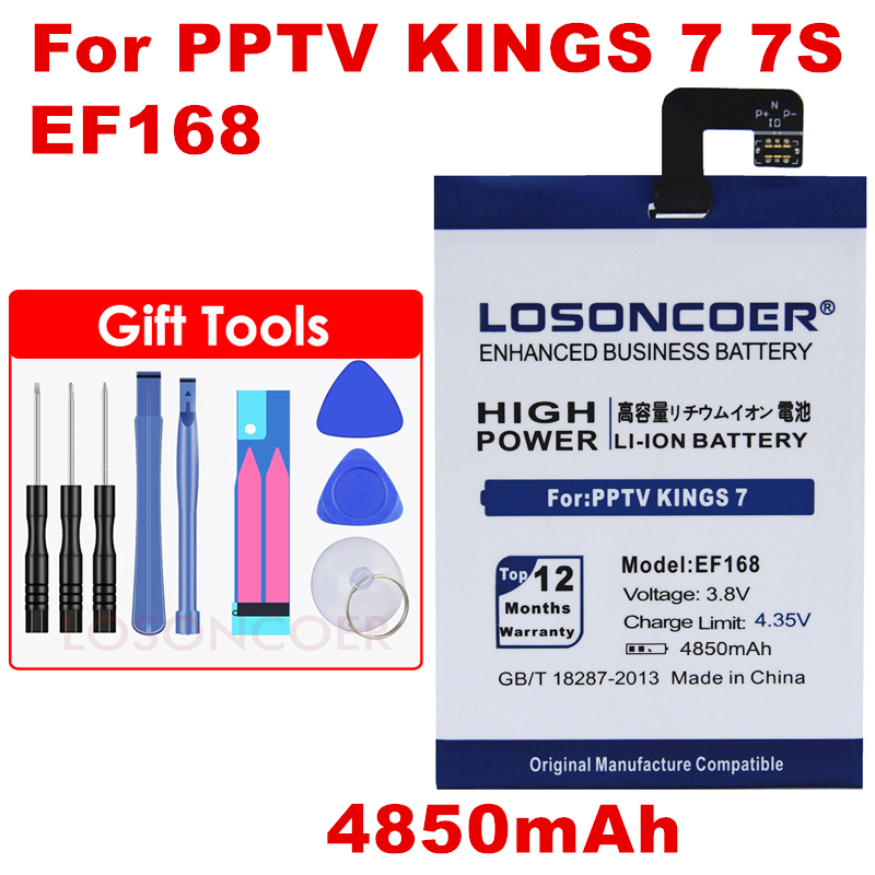 Battery For Baterie PP6000 Kings PPTV Gift-Tools Cellphone 4850mah 7S EF168 Stickers