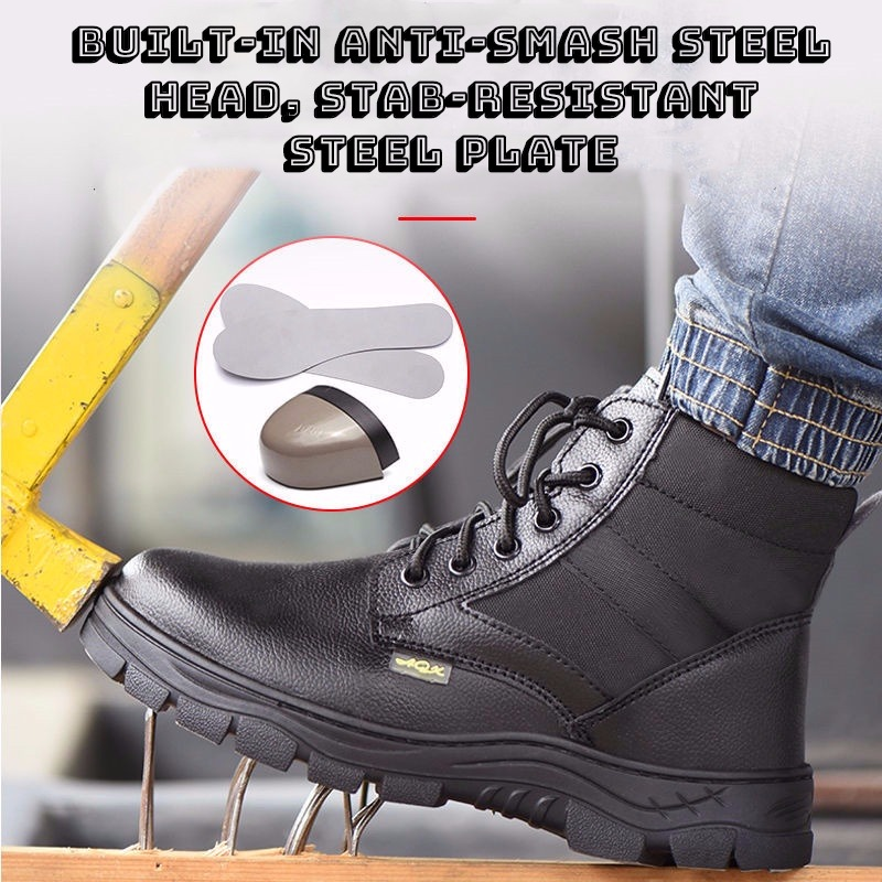 2019 Men Industrial Construction Shoes Waterproof Steel Toe Puncture Proof Work Safety Indestructible Man Boots Hiking Sneakers image