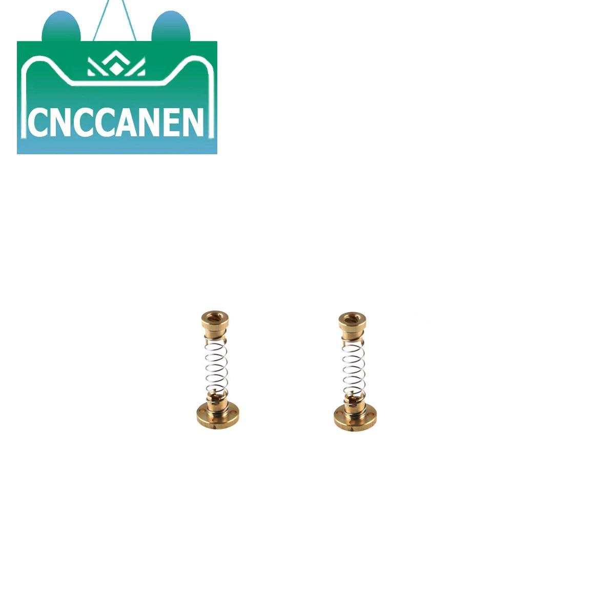 2PCS T8 Spring Loaded Anti Backlash Nut For 8mm Acme Threaded Rod Lead Screws DIY CNC 3D Printer Parts