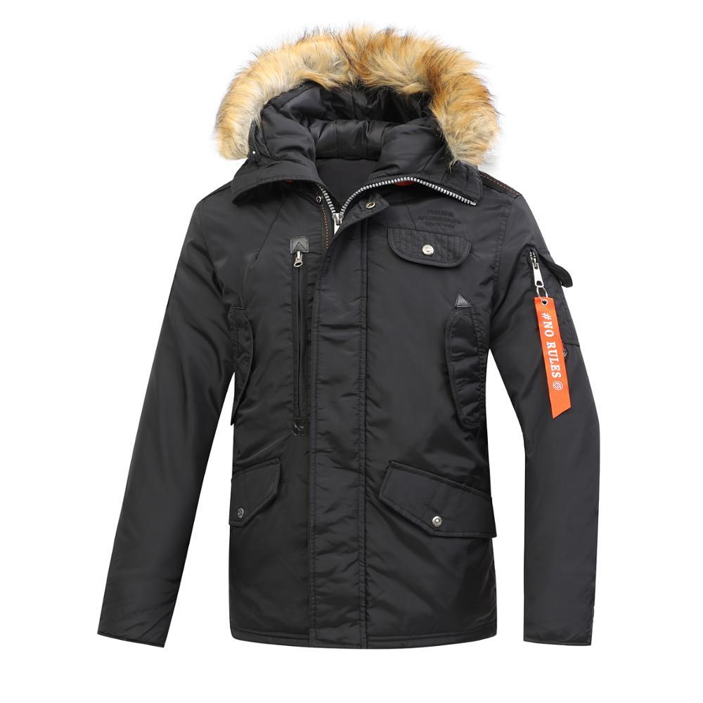 2020 Winter Men's Parka Thick Jacket with Hooded Waterproof Padding  Coat Outdoor Windbreak Medium Length Jacket